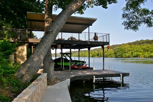 Lakeside Retreat contemporary-patio
