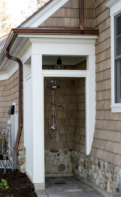 beach cottage dreaming and outdoor shower inspiration - How To Build An Outdoor Shower