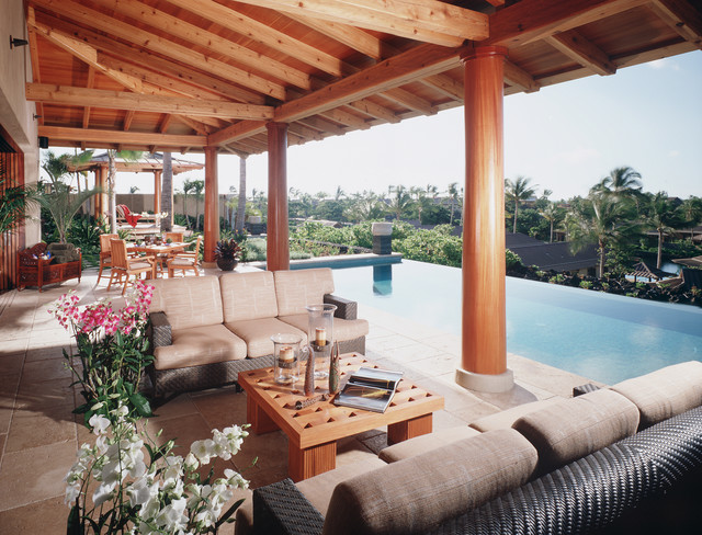 Lanai tropical patio hawaii by saint dizier design for What is a lanai in a house