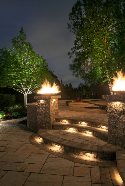 Landscape Lighting Poolside traditional-patio