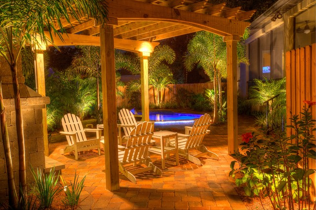 Landscape Lighting with Pergola traditional-patio - Landscape Lighting With Pergola - Traditional - Patio - Tampa - By