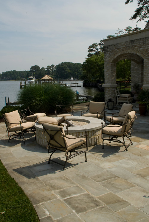 Create a Beautiful Fire Pit Area With Stamped Concrete Design Ideas and s