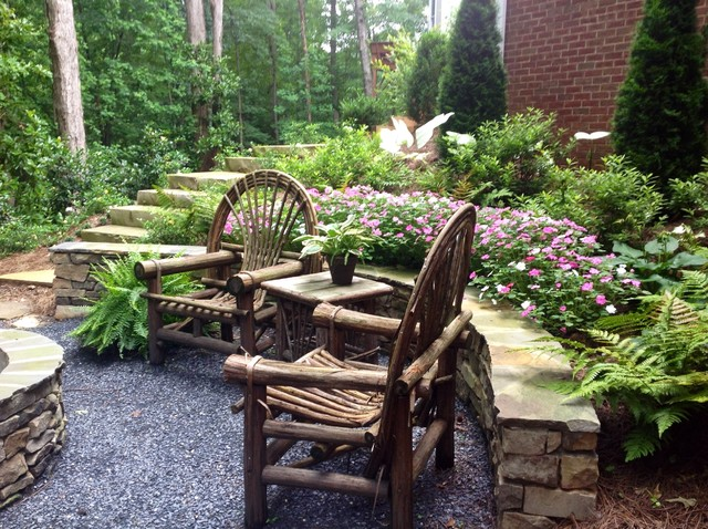 Landscaping For Slope And Shade Traditional Patio