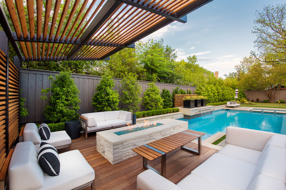 Lansdowne Modern Swimming Pool Outdoor Living Transitional Patio Dallas By Randy Angell Designs Houzz
