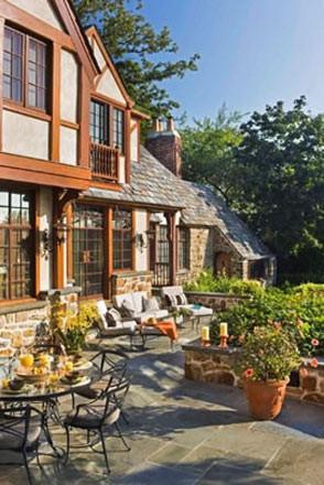 Larchmont Tudor traditional-patio