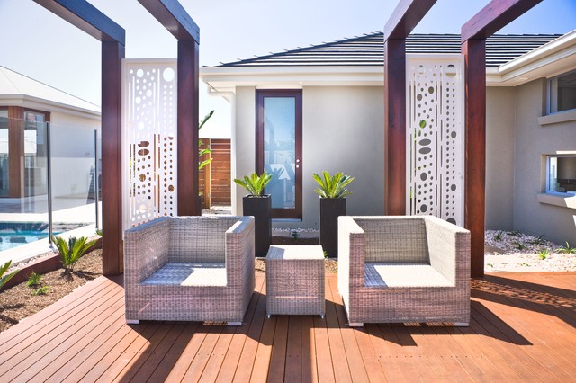 Laser Cut Metal Screens Contemporary Patio Melbourne By Landscape And