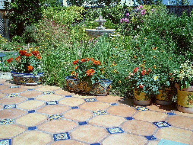 Superbe Example Of A Tuscan Tile Patio Design In San Francisco