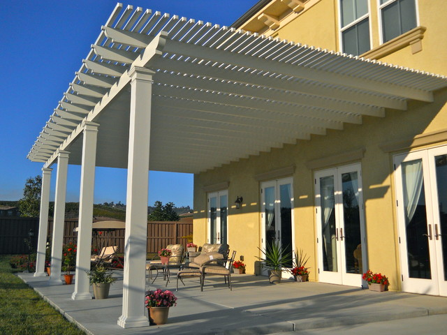 Lattice Patio Cover Contemporary Patio