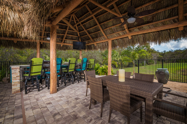 lawrence outdoor kitchen tropical patio miami by