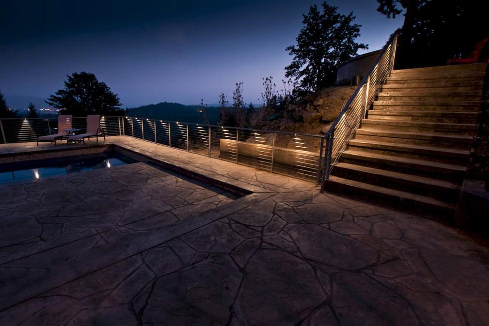 Led Patio Fence Lighting Contemporary, Outdoor Fence Lighting Ideas