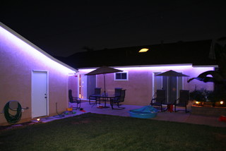 Led Strip Lighting Project Tropical Patio San Diego