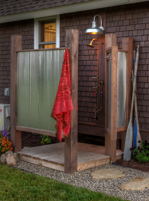 Attractive Simple Outdoor Shower Ideas Part - 13: Traditional Landscape By Hingham Landscape Architects U0026 Designers Sean  Papich Landscape Architecture