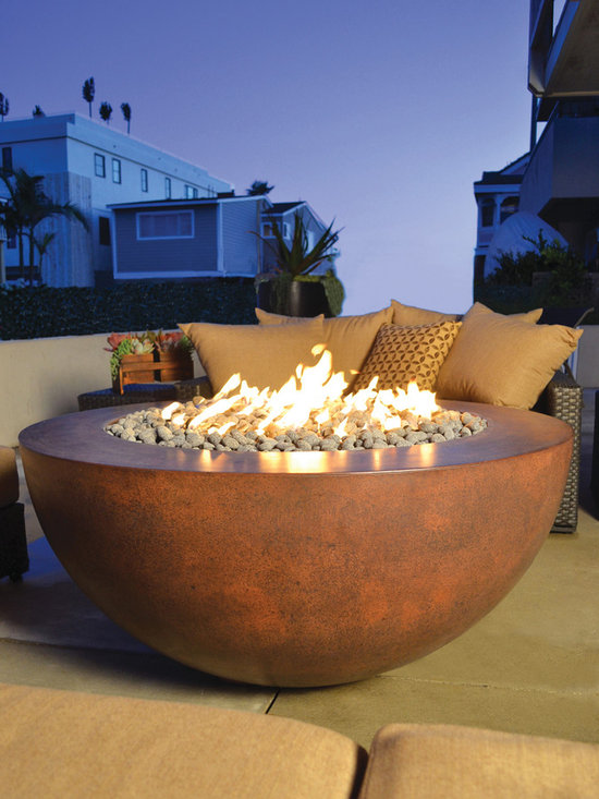 Legacy Round Fire PIt - Handcrafted GFRC Fire Pit