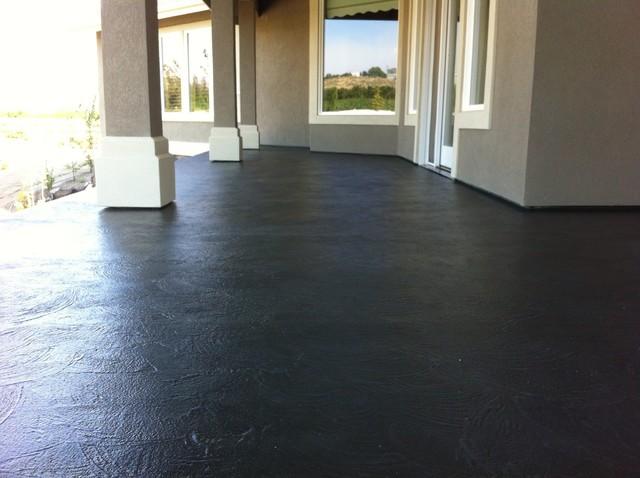 Leggari upper deck renovation concrete overlay traditional-patio