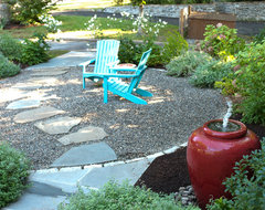 Less Lawn More Garden traditional-patio