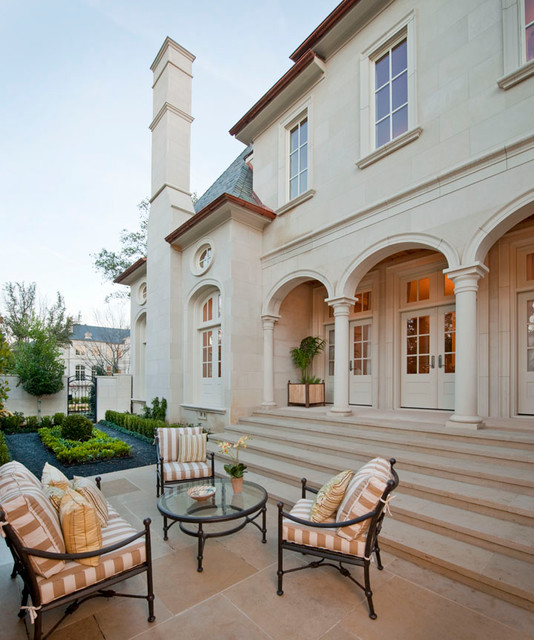 Landscape Lighting Highland Park: Dining Terrace - Traditional - Patio - Dallas