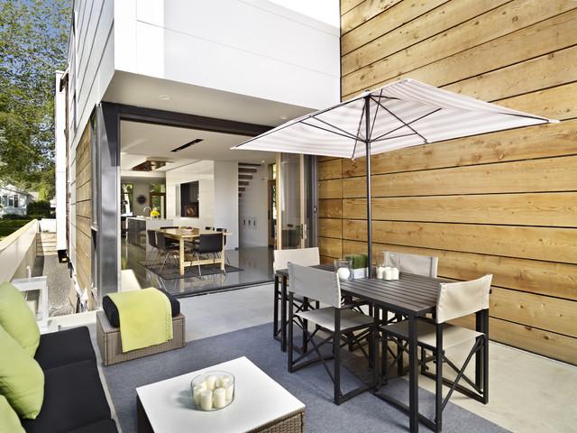 Lg House Exterior Courtyard Contemporary Patio