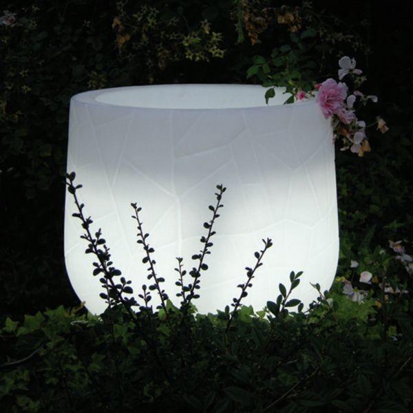 Lighted Indoor-Outdoor Planter outdoor-planters