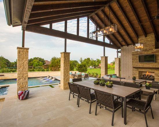 Open Beam Ceiling Patio Design Ideas, Pictures, Remodel & Decor