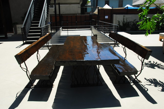 live edge furniture industrial-outdoor-tables