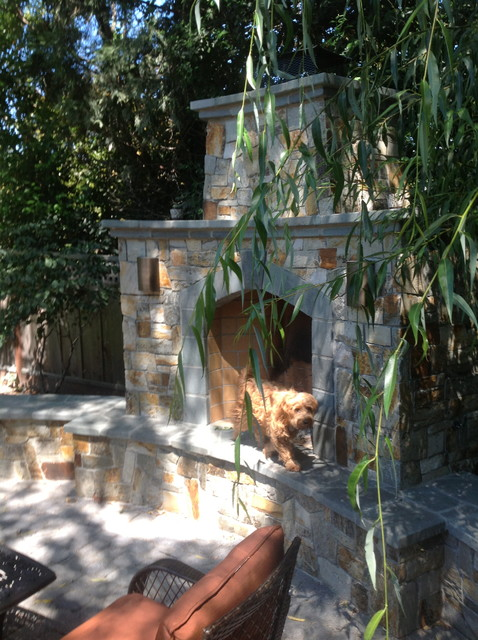 living in the round craftsman-patio
