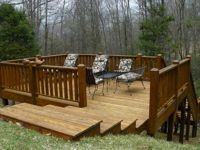 Log home and deck finishes rustic patio charlotte for Outdoor furniture mackay