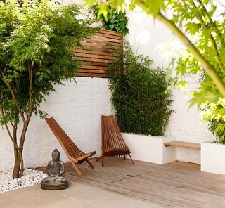 London Courtyard Garden contemporary-patio