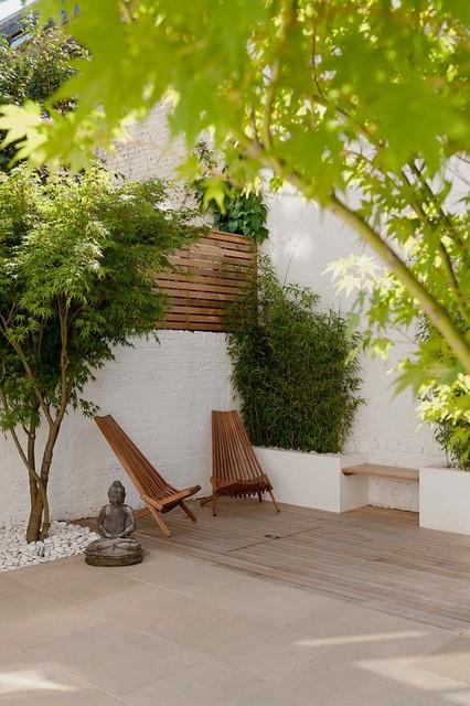 London Courtyard Garden Contemporary Patio south