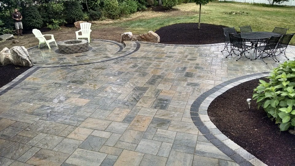 Londonderry, NH Patio and Fire Pit - Contemporary - Patio ...