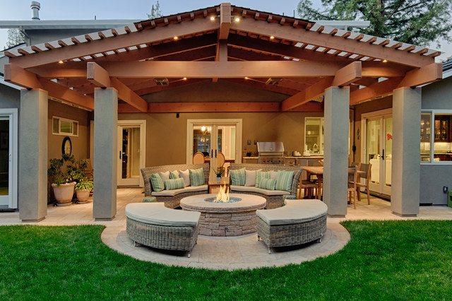 covered patio traditional patio - Patio Cover Ideas Designs