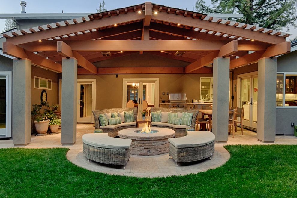 Los Altos Covered Patio Traditional Patio San Francisco By