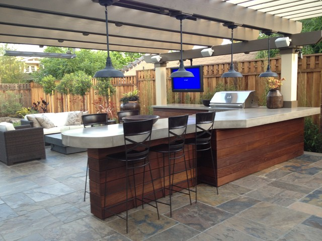 Man Cave Patio Ideas : Los gatos man cave contemporary patio san francisco