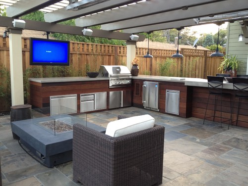 Backyard Man Cave Plans : HOT Outdoor Kitchen Trends That Make Backyard Living Easy  INSTALL