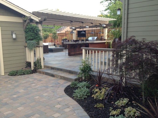 Small Backyard Man Cave : Los Gatos Man Cave  Traditional  Patio  san francisco  by Divine