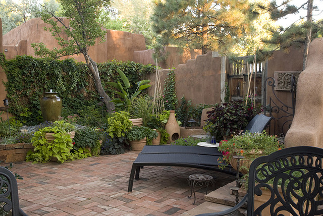 Lush Downtown Patio Mediterranean Patio Albuquerque by Clemens &