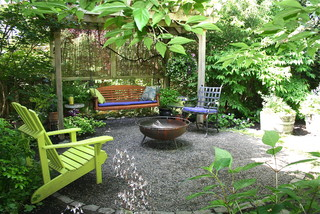 Casual and inexpensive outdoor seating area.