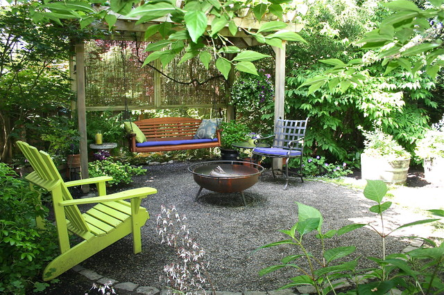 Lush Suburban Retreat Traditional Patio Portland