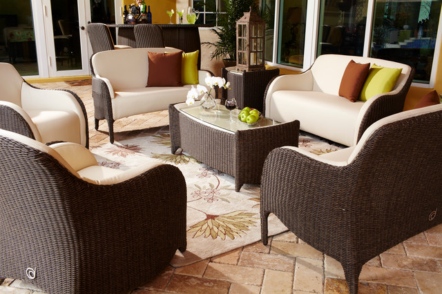 Luxor Outdoor Living Room Set Traditional Patio Miami