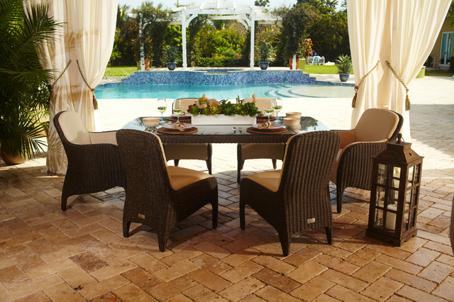 Luxor Poolside Patio Set Traditional Patio Miami By El Dorado Furniture