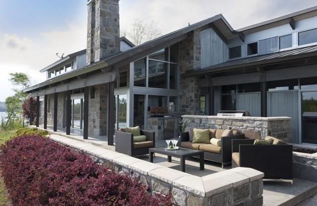 Luxury Lake House Rustic Patio Little Rock By