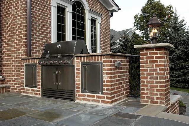 Luxury Outdoor Kitchen Design NJ - Traditional - Patio ...