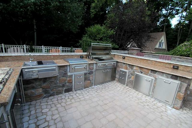 Luxury Outdoor Kitchen Design Nj Traditional Patio