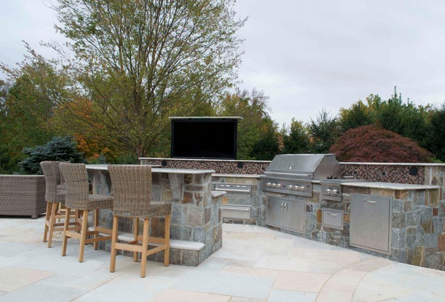 Luxury Outdoor Kitchen Designs Installations Nj Traditional Patio New York By Cipriano