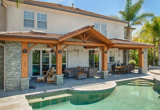 Luxury outdoor patio cover - Modern - los angeles - by ... on Luxury Backyard Patios id=30839