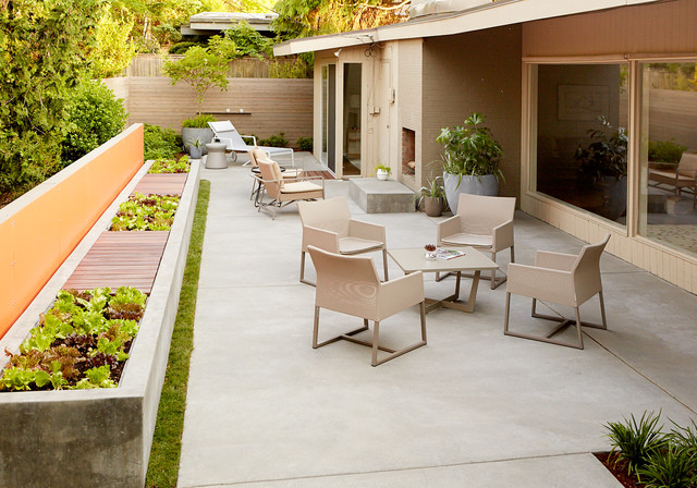 Madison Park House Midcentury Patio Seattle By