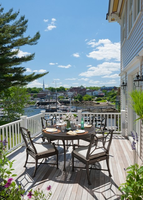 Maine harborside victorian traditional patio other for Phi home designs maine