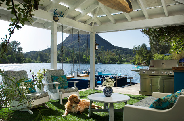 Malibu Lake Residence eclectic patio