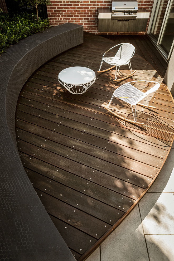 This is an example of a contemporary patio in Melbourne.