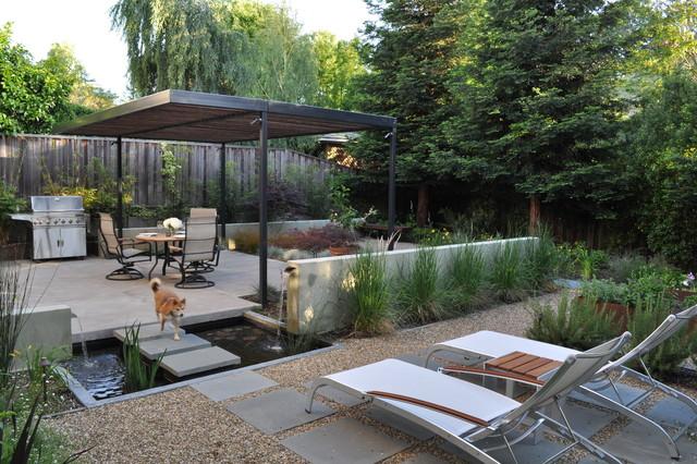 Mangan for Contemporary garden ponds