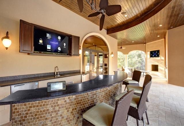 Mansfield Residence - Mediterranean - Patio - Dallas - by H. Customs Audio Video